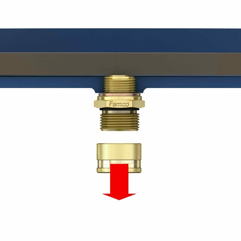 Oil drain plug step 1
