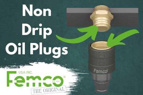 Non drip oil plugs